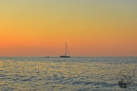 Sailboat at Sunset MI