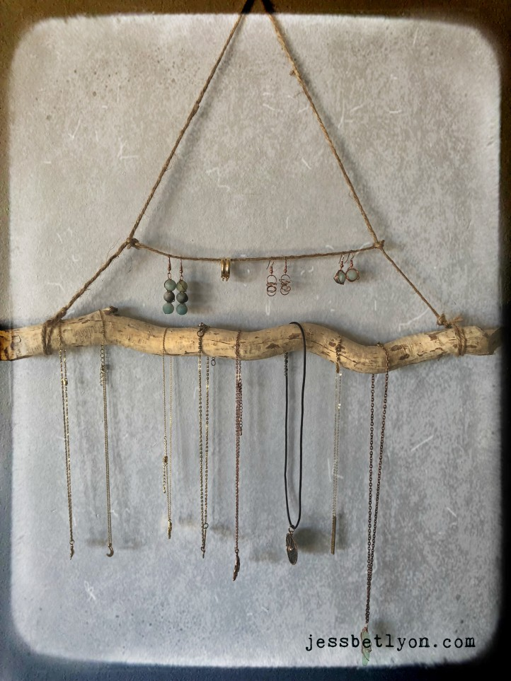 Driftwood Jewelry Bar